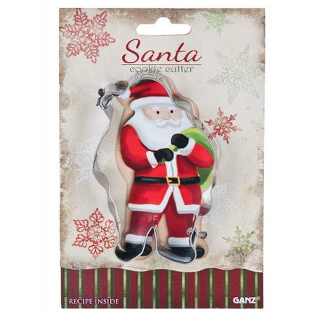 Santa Cookie Cutter  Ganz Christmas Holiday Cookie Cutter - Holiday Cookie Exchange
