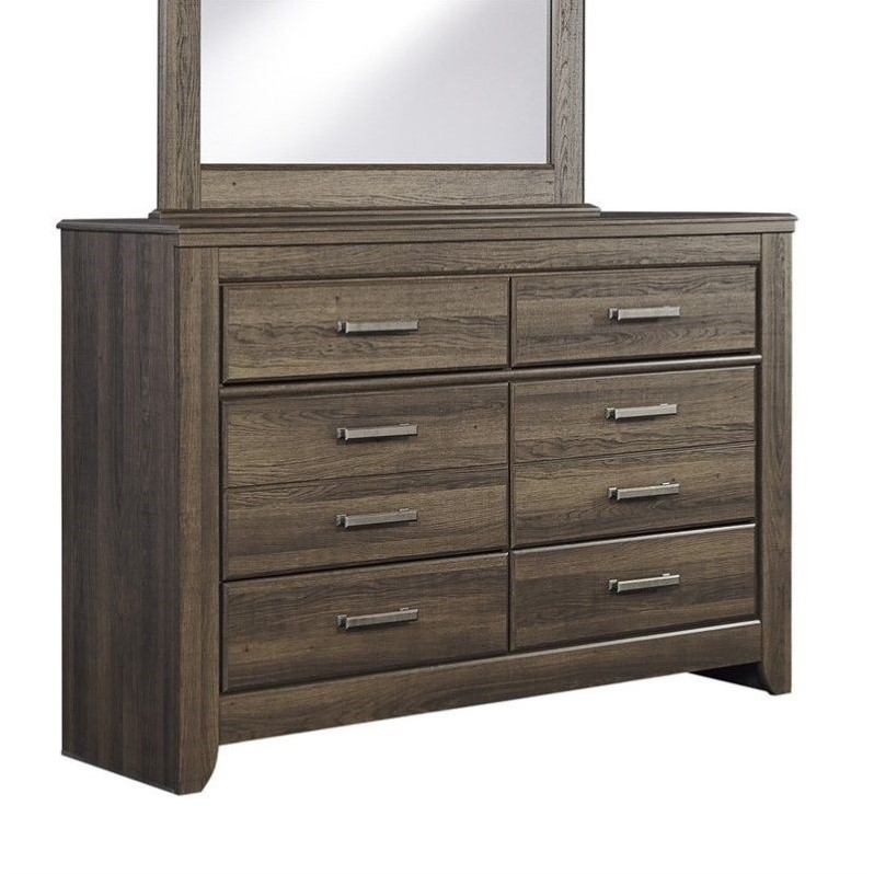 Ashley Furniture Juararo 6-Drawer Youth Dresser in Dark Brown by Ashley Furniture