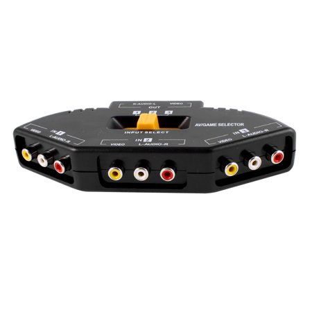 Unique Bargains 3 Way Audio Video AV RCA Switch Switcher Selector for DVD