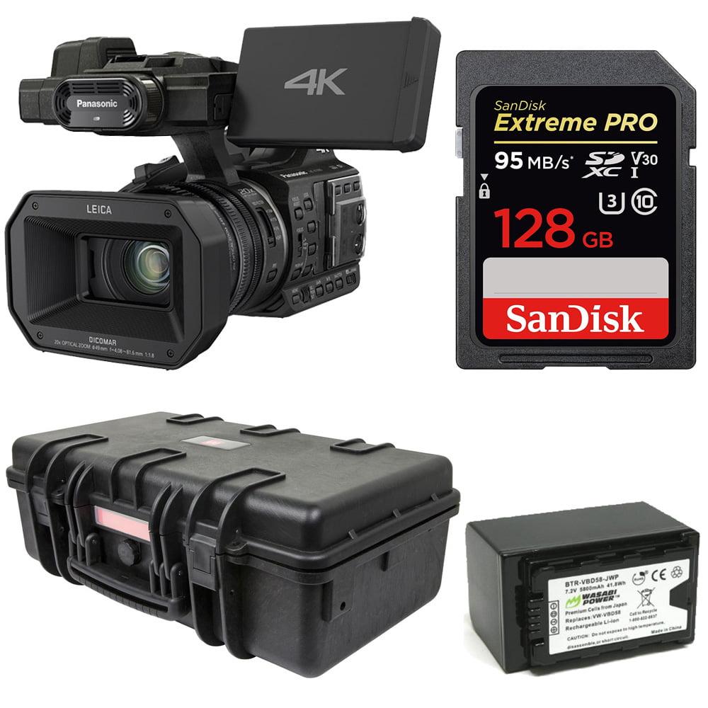 Panasonic HC-X1000 4K Ultra HD 60p/50p Professional Camcorder,20x Optical Bundle