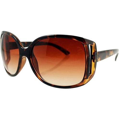 DNA Women's Sunglasses, Tortoise Frame with Brown Lenses