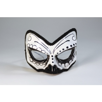 Day Of The Dead 1/2 Skull Mask Halloween Costume Accessory
