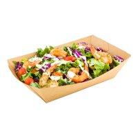 "Paper Food Boat - Kraft - 6.6"" - Large - 200 Count Box"