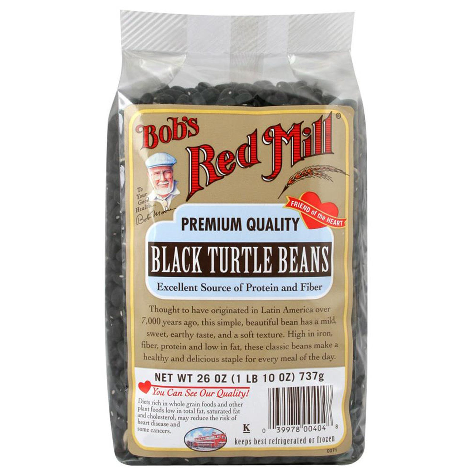 Bob's Red Mill, Black Turtle Beans, 26 oz (pack of 3)