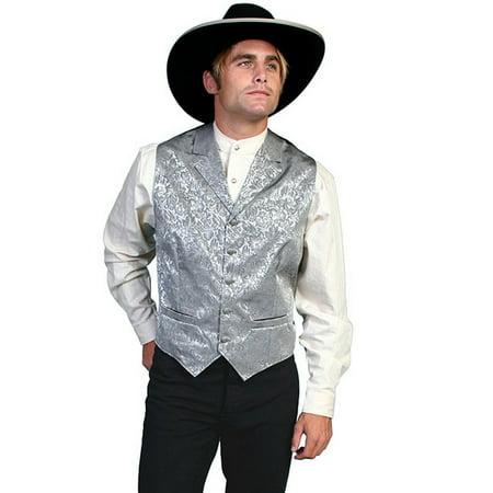 Scully Western Vest Mens Silk Adjustable Back Button Front 535354