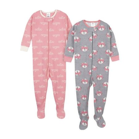 Glow In The Dark Girls Pajamas (Gerber Baby Girl Organic Cotton Unionsuit Pajamas,)