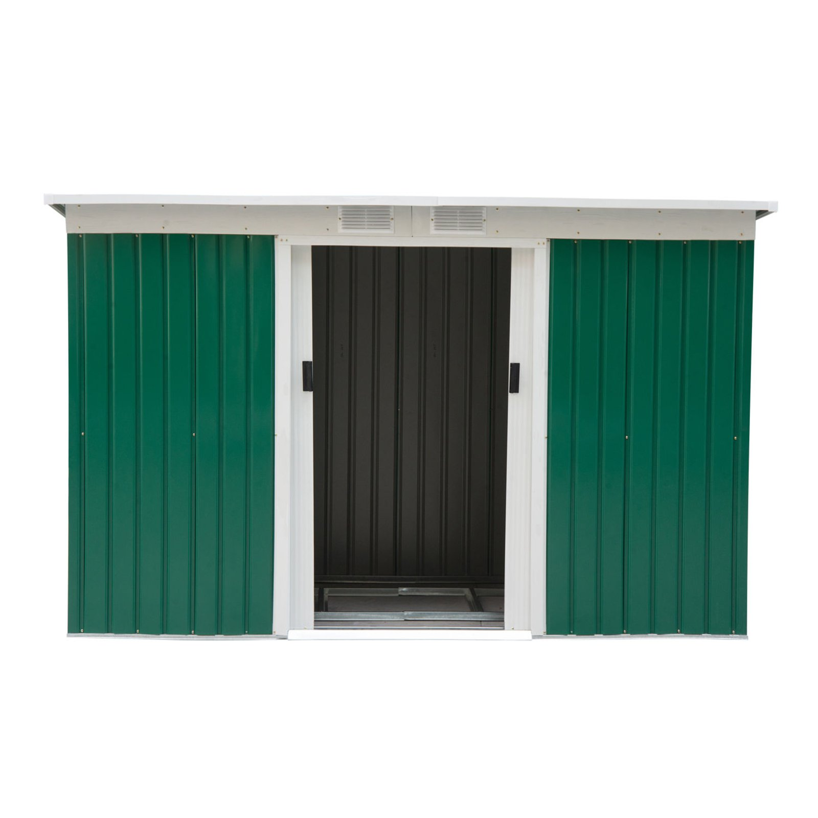 Outsunny 9 x 4 ft Outdoor Metal Garden Storage Shed Walmartcom