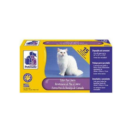 (Petmate, Cat Litter Box Liners, Medium, 12 count)