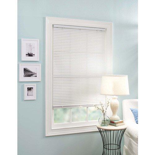 better homes and gardens white cordless 1 in vinyl mini blind