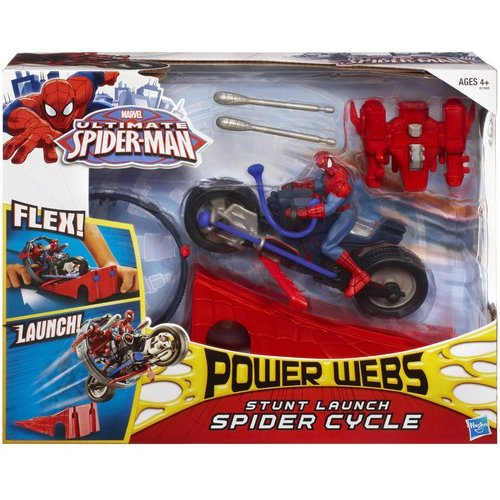 Marvel Ultimate Spider-Man Power Webs Stunt Launch Spider Cycle