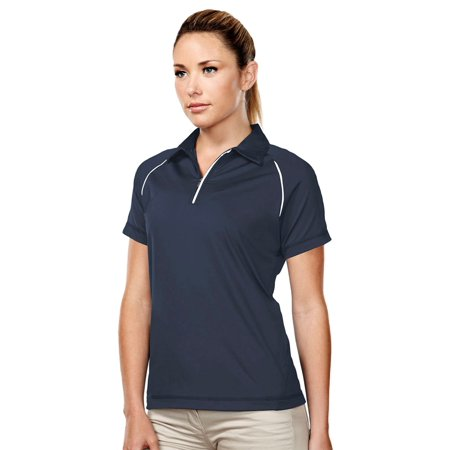 Tri-Mountain Women's 1 4 Zip Reflective Trim Polo Shirt 1/4 Zip Polo Shirt