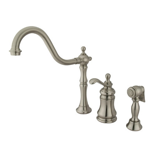 Kingston Brass Templeton Gourmetier Double Handle Widespread Kitchen Faucet
