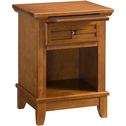 Home Styles Arts and Crafts Nightstand, Cottage Oak