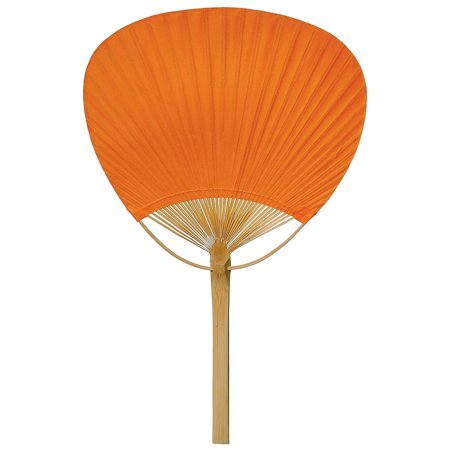Hand-Held Paper Paddle Fan (14.5-Inch, Mango Orange) - For Personal Use, Weddings, and - Hand Held Paper Fans