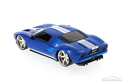 JADA FAST /& FURIOUS 7 FORD GT BLUE 1//24 DIECAST NEW WITHOUT BOX 97307
