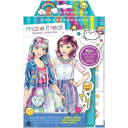 Fashion Design Sketchbook: Digital Dream, Kids Fashion Craft Kit - New Year Crafts