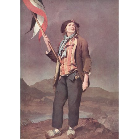The French Singer Chenard In The Costume Of A Sans-Culotte Flag Bearer At The Festival Of Liberty De La Savoie 14Th October 1792 After The Painitng By Louis Leopold Boilly From A Contemporary Print Po