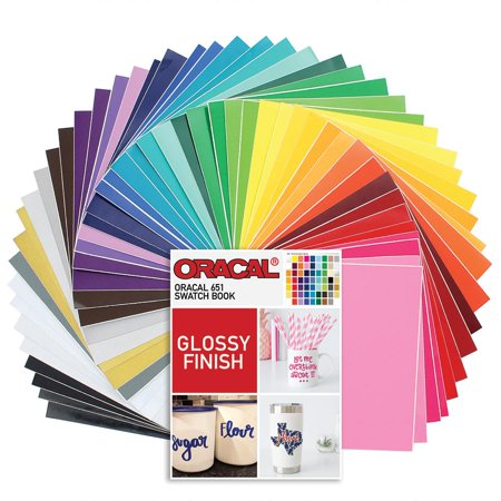 Oracal 631 Matte and 651 Glossy Vinyl 12 x 12 - 48 Assorted Colors with 651 Swatch