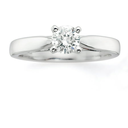 Image of Always & Forever Platinaire 1/2 Carat Round Solitaire Ring