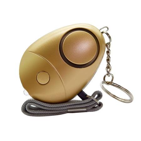 Personal Alarm 120-130dB Safe Sound Emergency Self-Defense Security Alarm Keychain LED Flashlight for Women Girls Kids Elderly Explorer, Gold, 1 pack](Keychains For Kids)