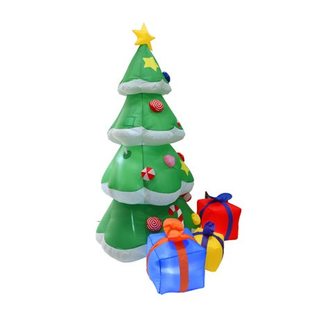 83'' Inflatable Christmas Xmas Tree LED Light Indoor ...