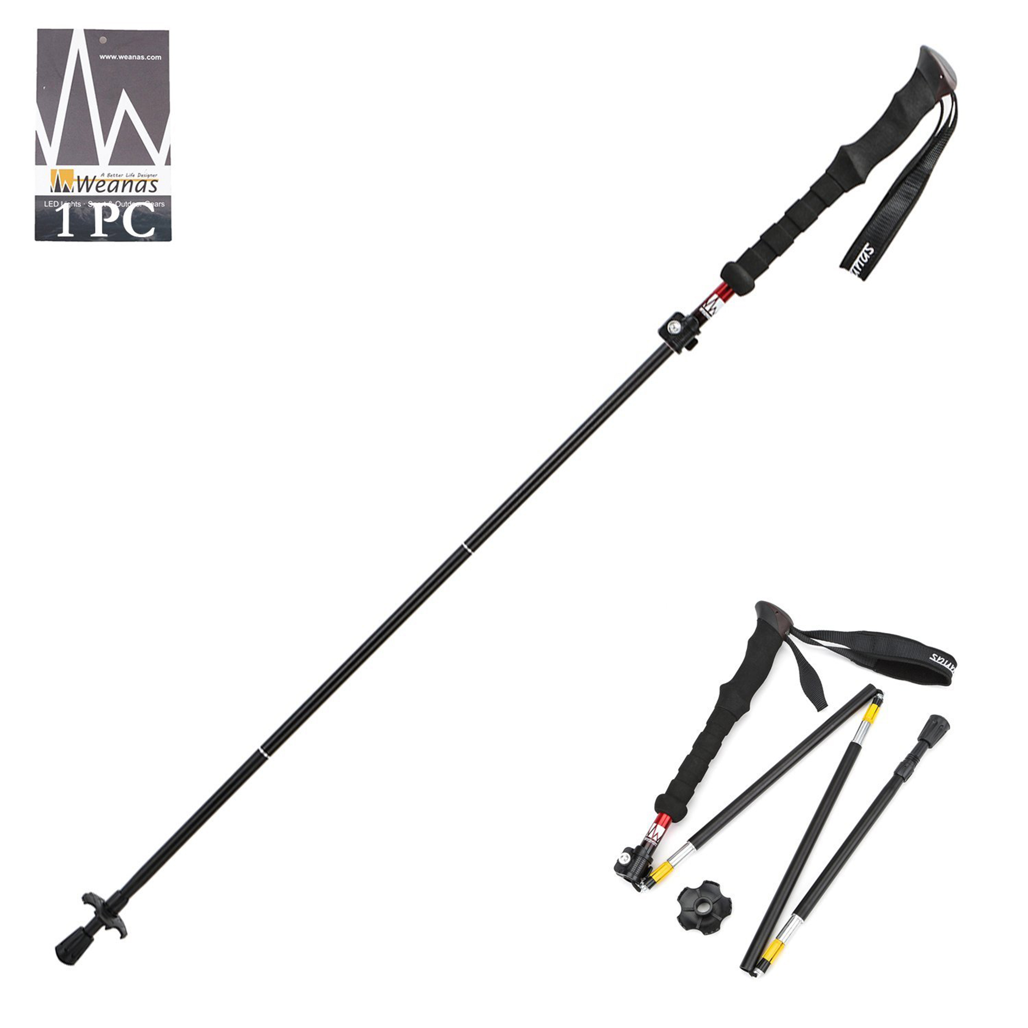 Click here to buy Weanas Collapsible Trekking Pole Climbing Stick w  EVA Foam Handle Green by Weanas.