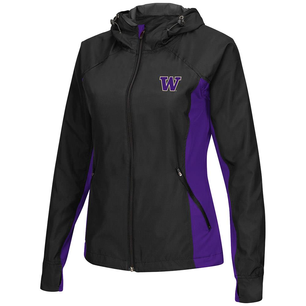 Womens Washington Huskies Step Out Windbreaker Jacket S by Colosseum