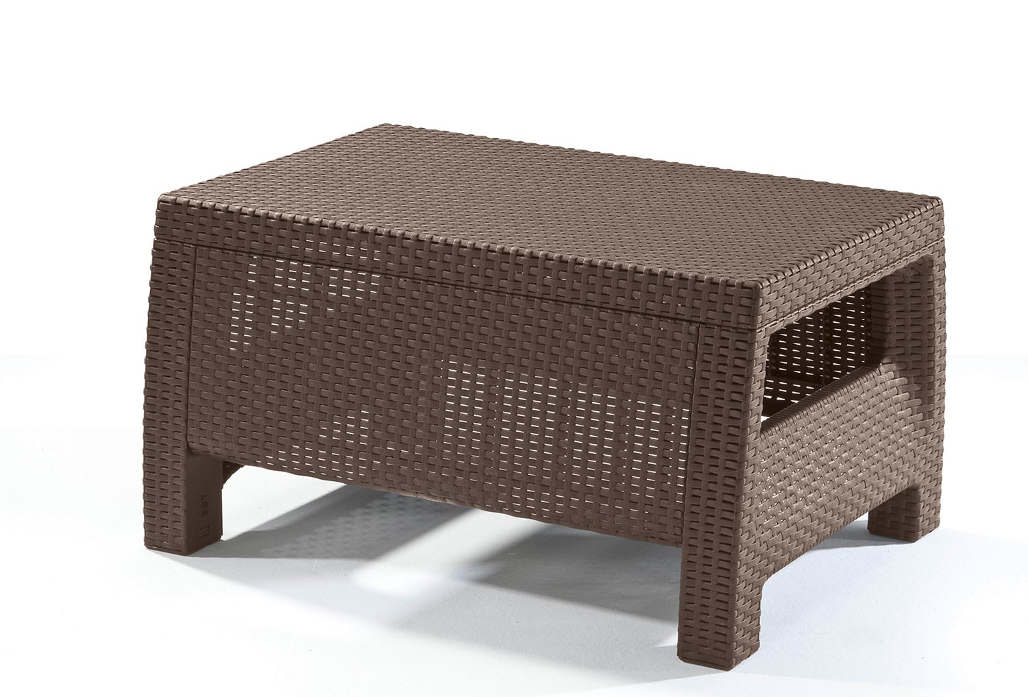 Lovely Keter Corfu Resin Coffee Table, All Weather Plastic Patio Furniture, Brown  Rattan
