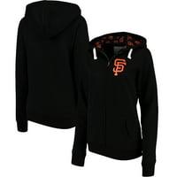 San Francisco Giants Soft as a Grape Women's Line Drive Full-Zip Hoodie - Black