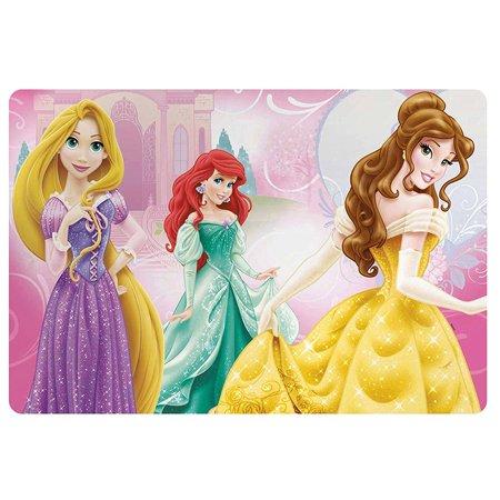 """Zak Design """"Disney Princess"""" Kids Meal Time Plastic Placemat! Featuring Rapunzel, Ariel & Belle! Makes Clean Up A Breeze!, plastic By Zak Designs"""