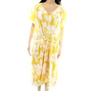 Adrianna Papell NEW Yellow White Women's Size 22W Plus Sheath Floral Dress