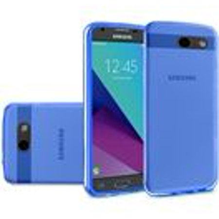 Samsung Galaxy J3 Emerge 2017 Case - Wydan TPU  Soft Gel Skin Case Flexible Durable Cover Blue
