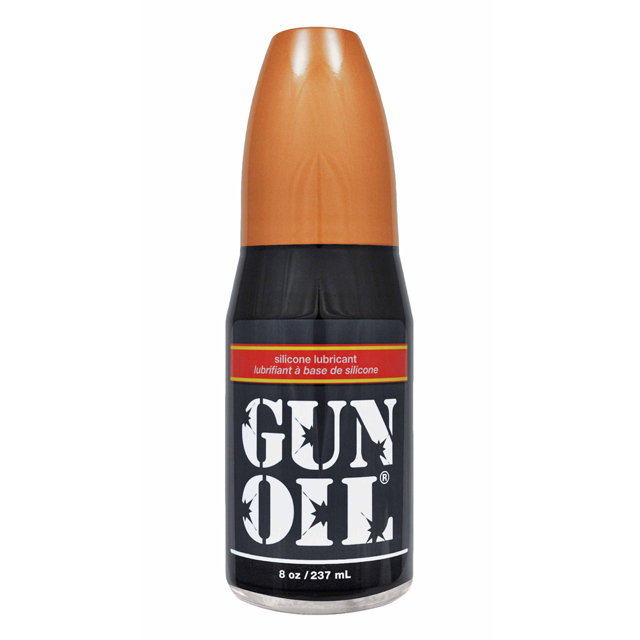 Gun Oil Silicone Based Personal Lubricant Pump Bottle - 8 oz