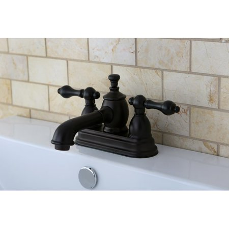 Kingston Brass French Country Oil Rubbed Bronze Widespread Bathroom ...