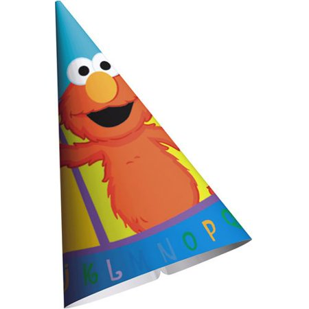 Sesame Street 'P is for Party' Cone Hats (8ct) (Street Cones)