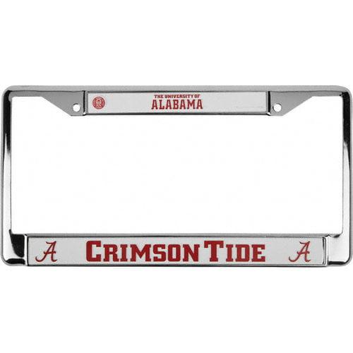 NCAA - Alabama Crimson Tide Chrome License Plate Frame
