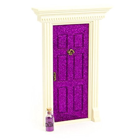 Lil' Fairy Door Door Novelty, Sparkle Purple, Includes: Lil' Fairy Door, Fairy Dust, Mounting Supplies and a note By Lil Fairy