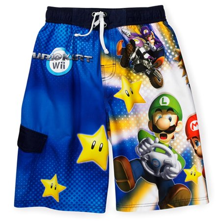 3cbc64b9f7 Nintendo - Nintendo - Boys' Super Mario Swim Trunks - Walmart.com