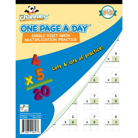 Channie's One Page A Day Single Digit (Beginner) Multiplication Practice Workbook for 2nd-3rd - Two Digit By Two Digit Multiplication Halloween