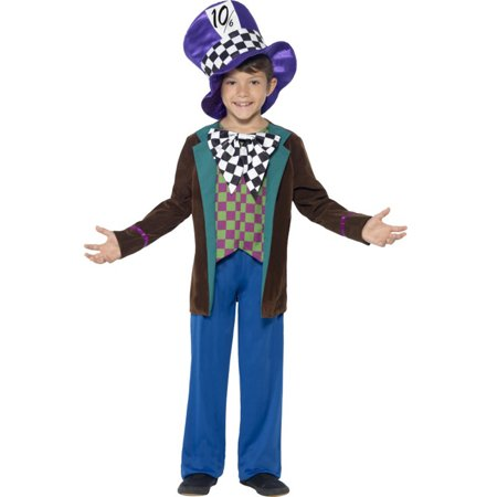 Child's Boys Deluxe Wonderland Crazy Mad Hatter Tea Party Costume - Baby Boy Mad Hatter Costume