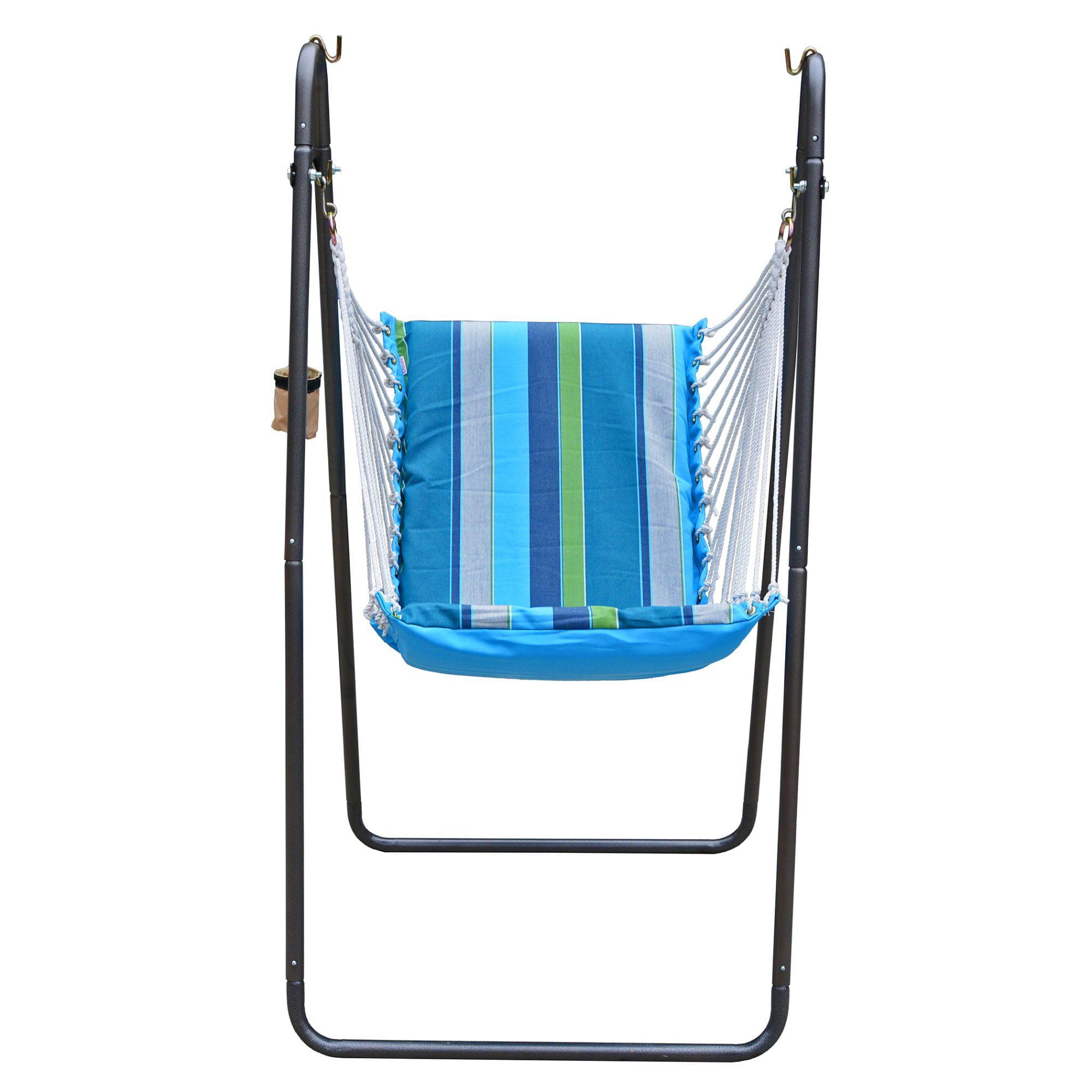 Deluxe Soft Comfort Hanging Chair Sunbrella Calyposo Walmart Com Walmart Com
