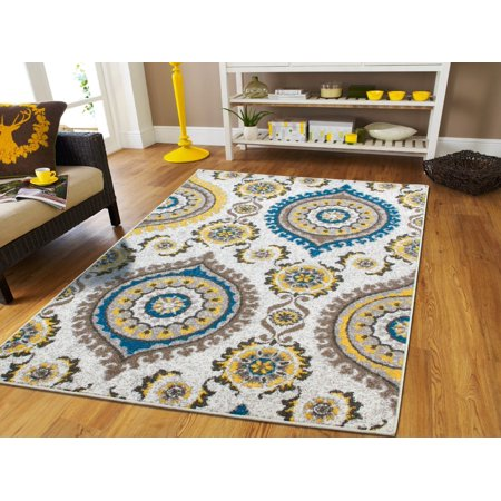 Living Room Rugs8x10 Yellow Gray Blue Brown Ctemporary Rugs for Living Room  8 by 10 under100 Dining Room Rugs for Under the Table 8x11