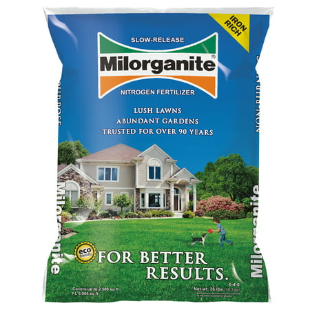 Milorganite Slow-Release Nitrogen All Purpose Long Lasting 6-4-0 Fertilizer, 32