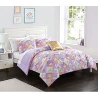Heritage Club Tie Dye Purple Bed in a Bag Bedding Set, 5 Piece, Twin