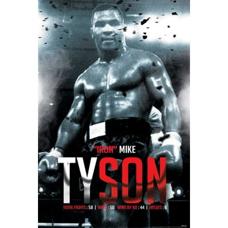 Mike Tyson Boxing Record Sports Poster 24X36 Inch