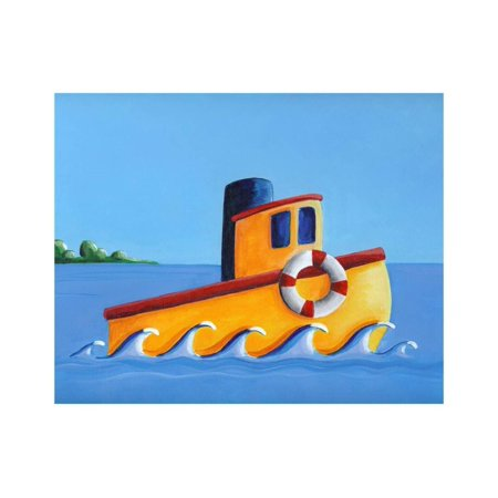 Lil Tugboat Print Wall Art By Cindy Thornton