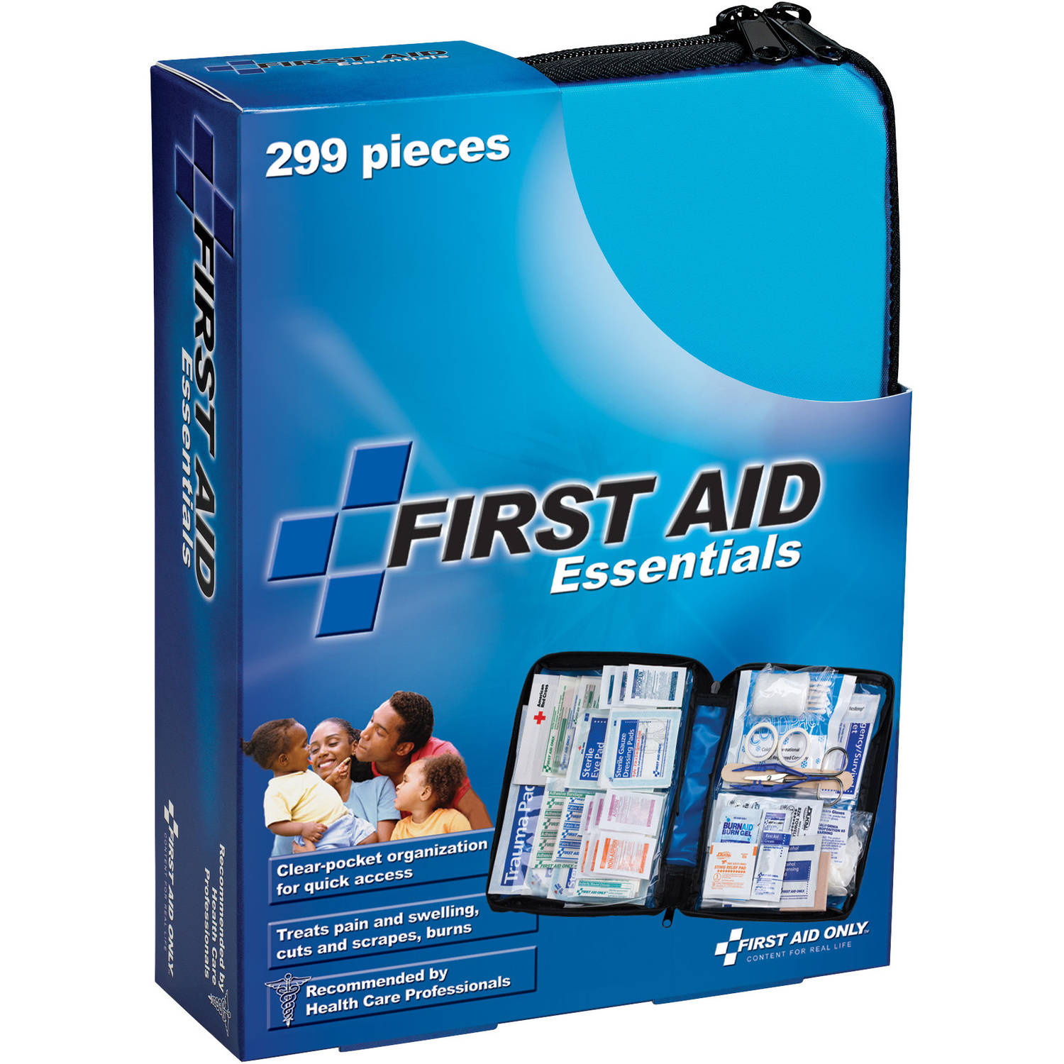 First Aid Only First Aid Essentials Kit, 299 Piece, Fabric Case