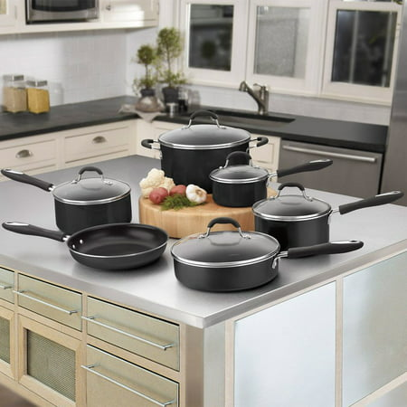 Cuisinart Advantage Nonstick 11 Piece Cookware Set w/cover - Black 55-11BK