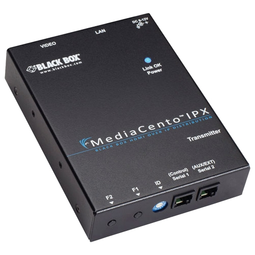 Black Box VX-HDMI-POE-MTX Black Box MediaCento IPX PoE Multicast Transmitter - 1 Input Device - 328 ft Range - 1 x Network (RJ-45) - 1 x HDMI In - WUXGA - 1920 x 1200