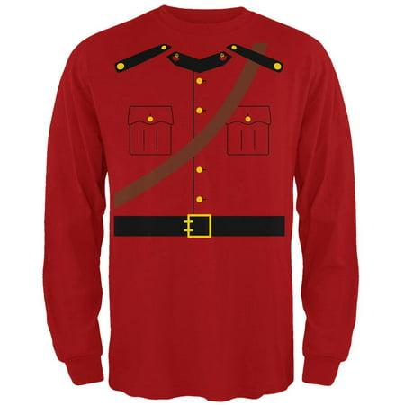 Halloween Canadian Mounty Police Costume Mens Long Sleeve T - Walmart Canada Halloween